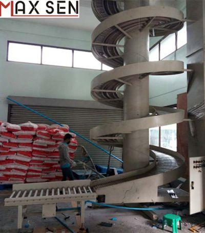 昆山满鑫机械定制链板式螺旋输送升降机