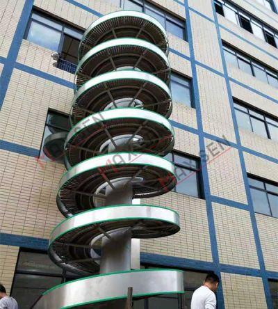 广州户外螺旋链板输送机 后道纸箱升降机